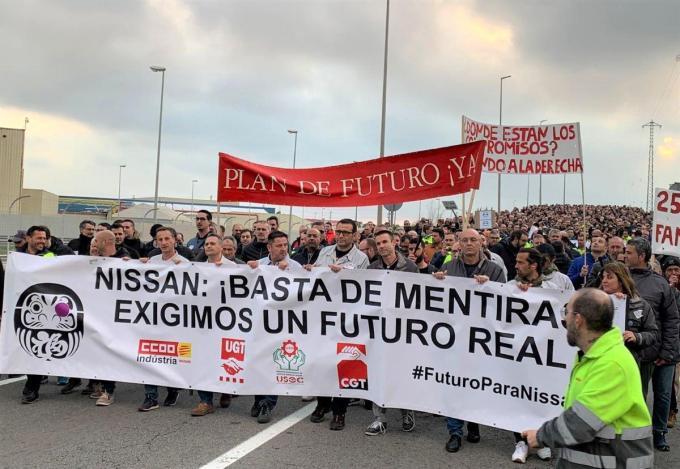 manifestacion-de-la-plantilla-de-nissan-en-la-ronda-litoral-de-barcelona